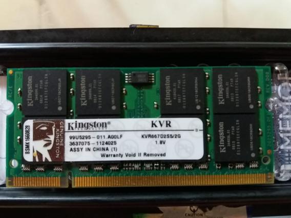 Memoria Ram Notebook Kingston Kvr667d2s5 2gb