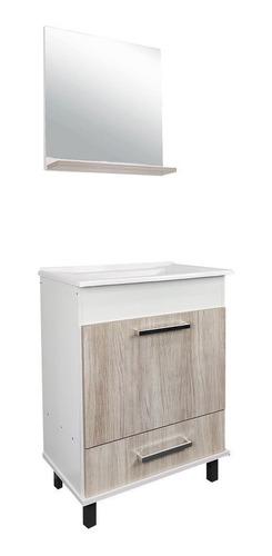 Imagen 1 de 6 de Muebles De Baño + Bacha Pileta + Espejo Puerta Y Cajón