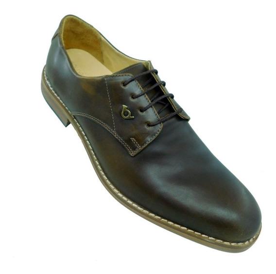 Zapato Cuero Hombre Red Horn William Derby Talles 46 A 48