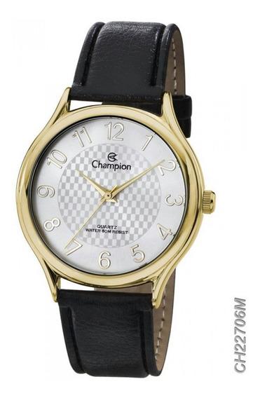 Relógio Unissex Champion Couro 50m Original C/garantia + Nf