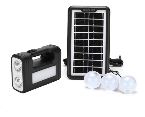 Imagen 1 de 3 de Kit Panel Solar Aislado Con Focos Y Recarga De Celular