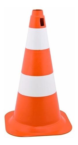 Cone Pequeno Laranja/branco 50 Cm
