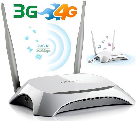 Router Wifi Tplink P Modem Usb 4g Rj45 Mr3420 Garantía 5 Año