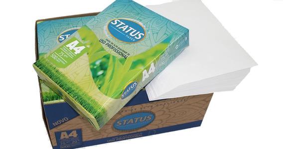 Caixa De Papel A4 Sulfite Com 5 Resmas 2500 Folhas Status