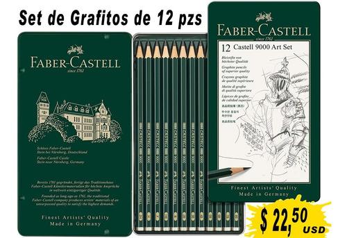 Imagen 1 de 5 de Faber-castell 9000 Set De Lápices De Grafito 12 Graduaciones
