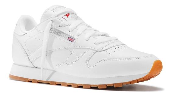 Zapatillas Reebok Classic Leather Blanca De Mujer