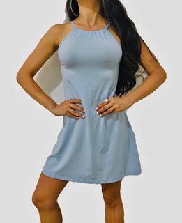 Vestido Mujer Vestido Tiras Corto Dama Moda Sexy Y Cómoda