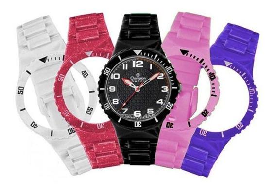 Relógio Champion Menor Cp38086x Original Kit N.f Frete Grat