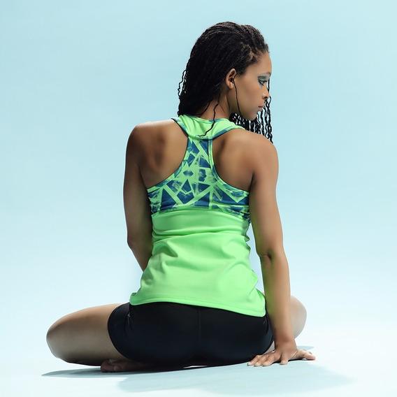 Musculosa Supplex Verde Fluo Con Recortes