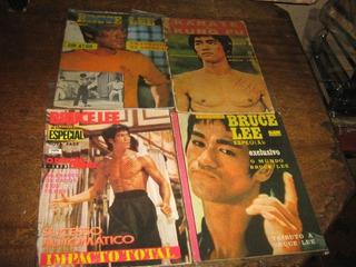 Bruce Lee Lote C/ 4 Revistas Decadas 70/80 Ed Sampa Zolar