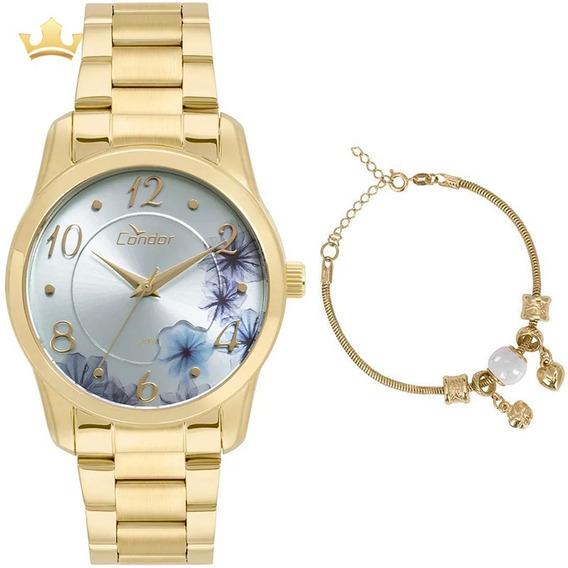 Kit Relógio Condor Feminino Co2039at/k4a Com Nf