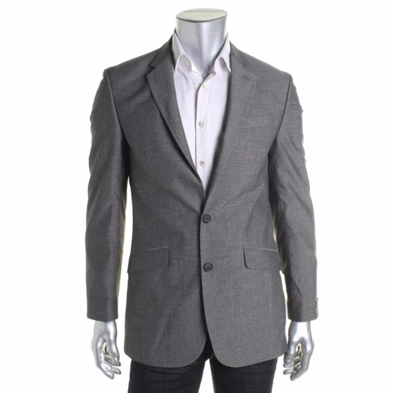 Blazer Unlisted Kenneth Cole Cinza 2 Botoes Terno Paleto