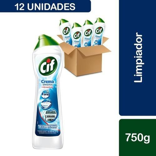 12 Cif Crema Original Cloro Con Microparticulas 750g