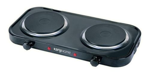 Imagen 1 de 1 de Anafe eléctrico KanjiHome KJH-HP2200STD negro 220V