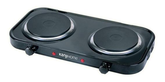 Anafe eléctrico KanjiHome KJH-HP2200STD negro 220V