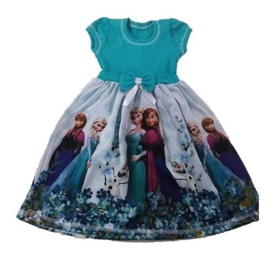 Vestido Infantil Frozen - Elza Malha Roupa/fantasia