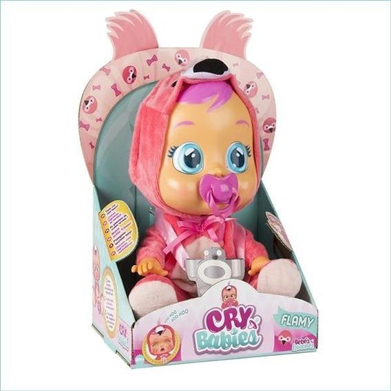 Boneca Cry Babies Flamy Chora De Verdade C/ Chupeta - Br121