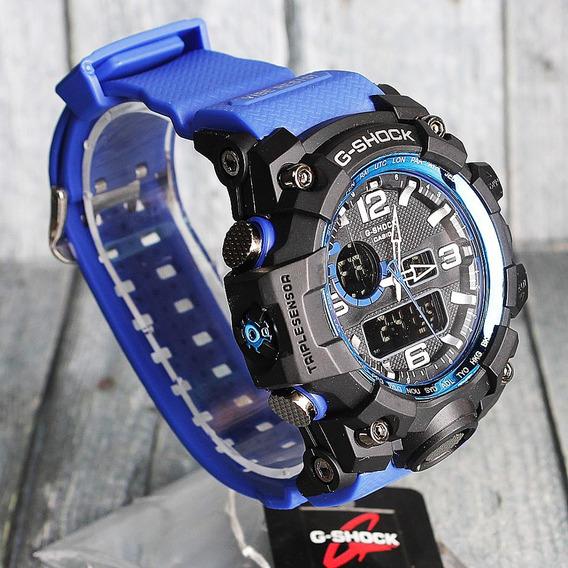 Relogio Casio Gshock Mudmaster Gwg1000, Azul, 12x S/juros