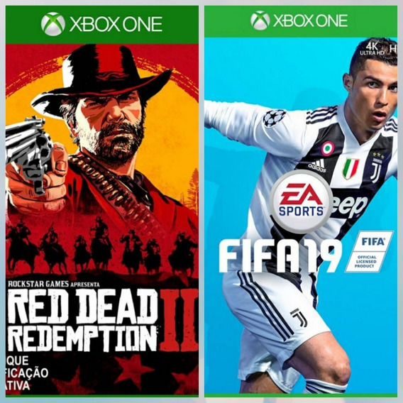 Jogo Fifa 19 E Red Dead Redemption 2 Xbox One