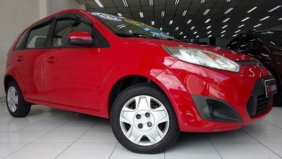 Ford Fiesta 1.6 Flex 8v Vermelho 2013 Único Dono Completo