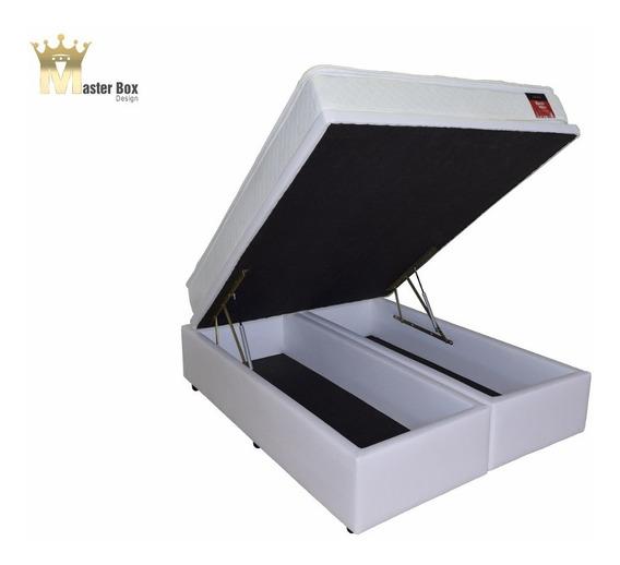 Cama Box Báu Bipartido Casal Premium Corino 12x Sem/colchão