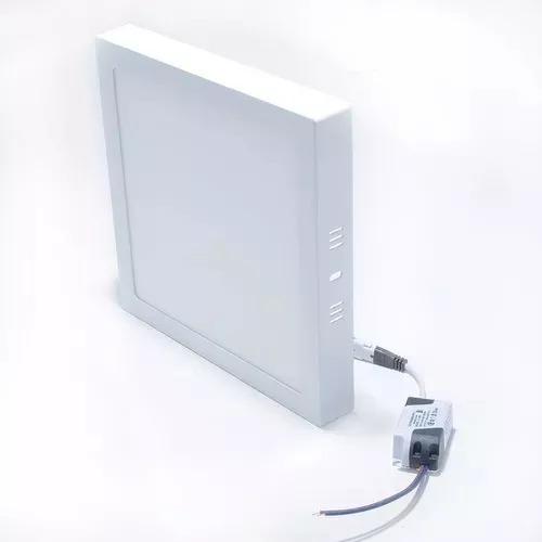 Plafon Luminária Super Led 24w Quadrado Sobrepor