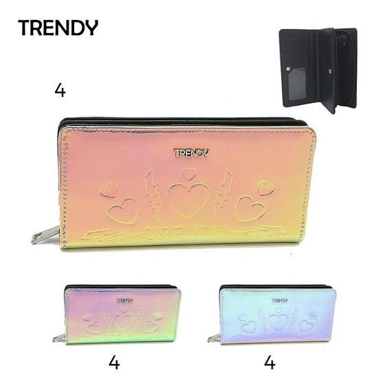 Billetera Tornasolada - Trendy + Cuotas + Envío Gratis