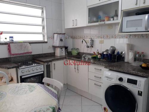 Imagem 1 de 25 de Apartamento Com 2 Dormitórios À Venda, 84 M² Por R$ 375.000,00 - Encruzilhada - Santos/sp - Ap1217