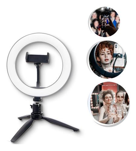 Ring Light Iluminador 16cm  Filmagem Maquiagem Video Led