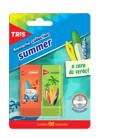 Borracha Escolar Coleção Verão Textura Macia Tris