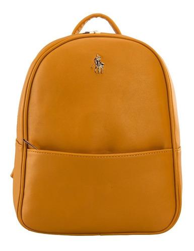 Imagen 1 de 7 de Backpack Hpc Polo Con Logo De La Marca En Liso