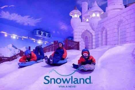 Pacote Snowland Para 4 Pessoas