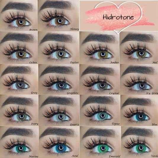 Pupilentes Meetone Hidrotone+solucion/estuche Dupe Solotica