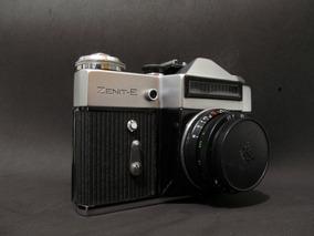 Câmera Fotográfica Zenit-e Com Lente Industar 50mm F3.5