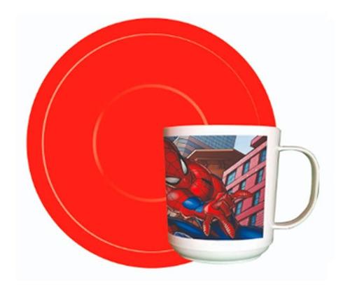 Imagen 1 de 1 de Taza Con Plato Spiderman Ha043 Cresko