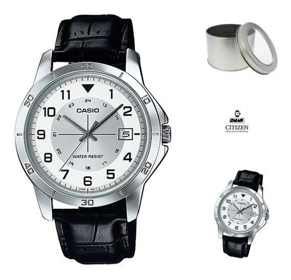 Reloj Casio Mtpv008 Hombre Piel *watchsalas*