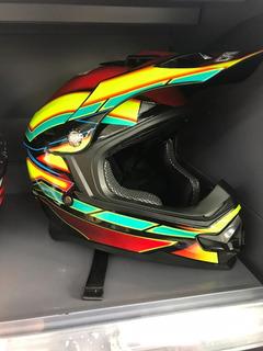 Casco Para Motorizado, Motor, Motorista. Full Colorido