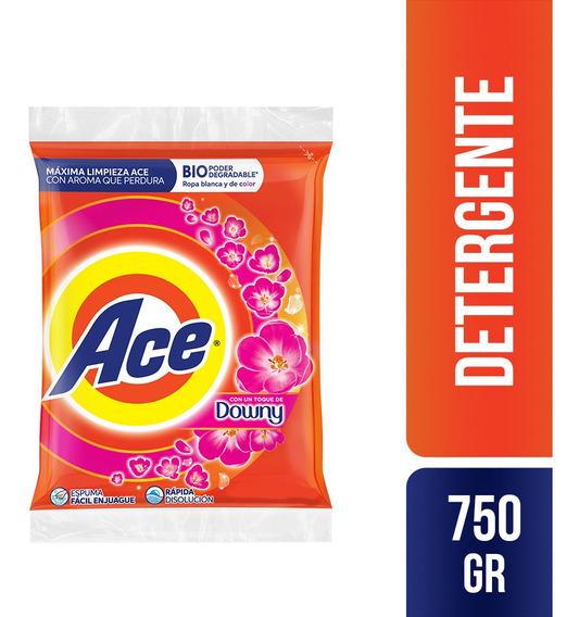 Detergente En Polvo Ace Toque Downy 750gr