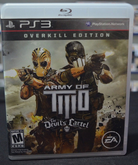 Jogo Ps3 Army Of Two The Devil´s Cartel (usado)