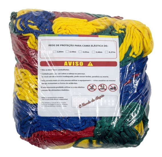Rede De Proteção P/cama Elástica 4,27m C/1,30m Altura Oferta