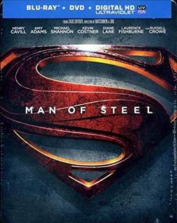 Blu-ray : Man Of Steel (with Dvd, Ultraviolet Digital Hd