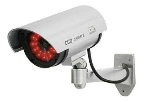 Camara De Seguridad Falsa Exterior Con Luz Led  Vigilancia