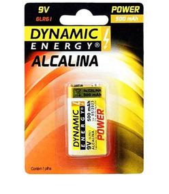 Bateria Pilha 9v Dynamic Energy Alcalina 500mah-10 Unidades