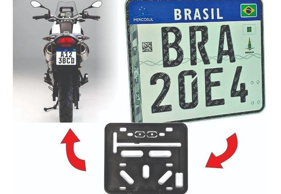Suporte Para Placa De Moto Modelo Mercosul - Retangular