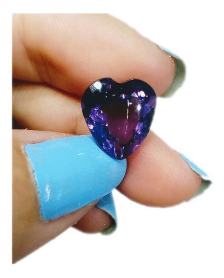 Ametista 4 460 Cts Coração Natural 11x10 Mm Limpa Aa