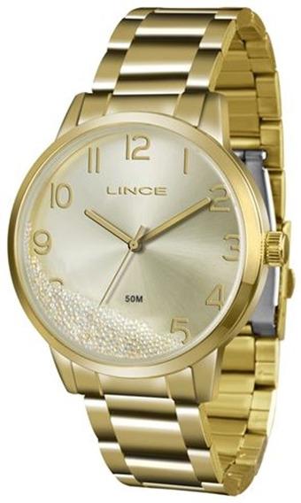 Relógio Feminino Lince Dourado Lrg4379l-c2kx