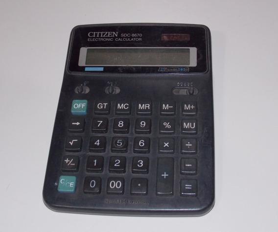 Calculadora Usada Citizen Sdc 8670 Quebrada
