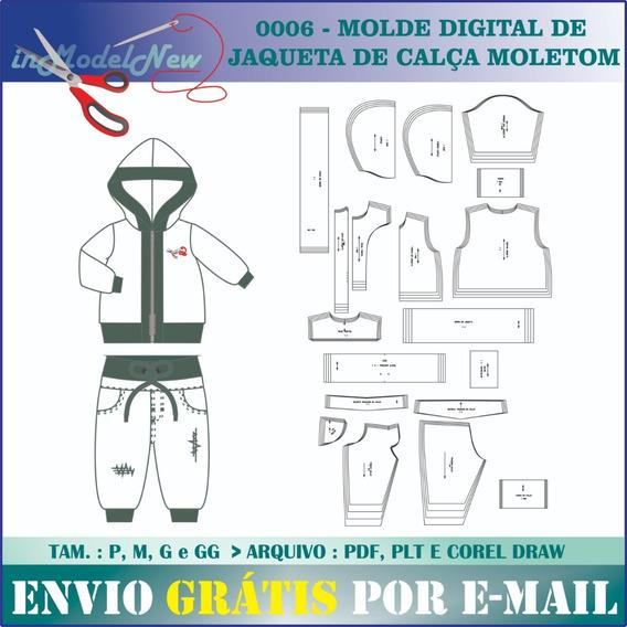 Molde Digital De Jaqueta E Calça Moletom Masculino
