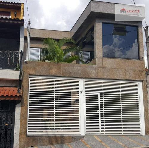 Sobrado Com 3 Dormitórios À Venda, 200 M² Por R$ 640.000,00 - Vila Paranaguá - São Paulo/sp - So2373