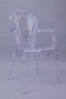 Silla Ghost Tipo Luis Xv Transparente Ynegra Nueva En México